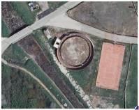 Vista aérea plaza de toros de Villalba de la Lampreana