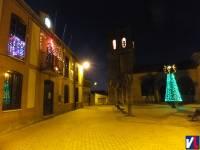 Nueva imagen nocturna de la plaza en la Navidad de 2011